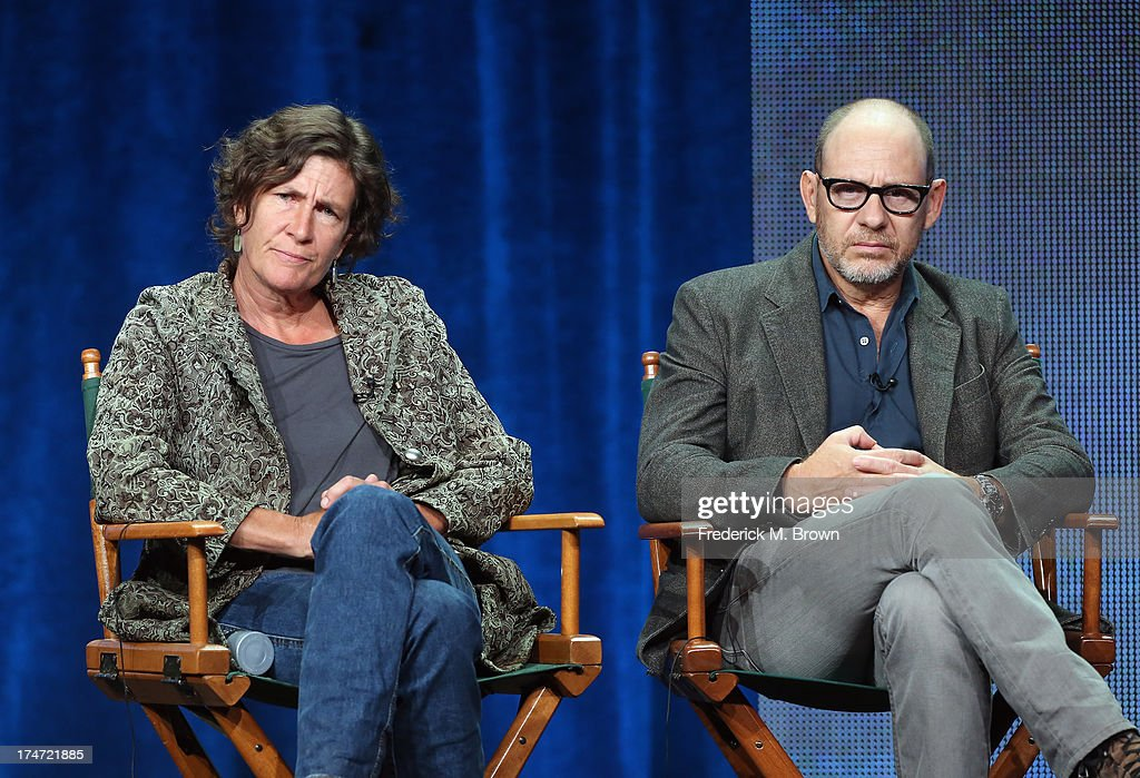 Directors Gwyneth Horder-Payton and Daniel Sackheim speak onstage during 'FX Directors' panel as part of the 2013 Summer Television Critics Association tour at the Beverly Hilton Hotel on July 28, 2013 in Beverly Hills, California.
