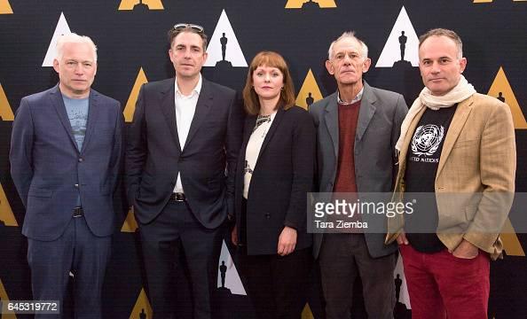 Directors Hannes Holm Martin Zandvliet Maren Ade Martin Butler and Bentley Dean arrive to the 89th Annual Academy Awards Oscar Week reception for...