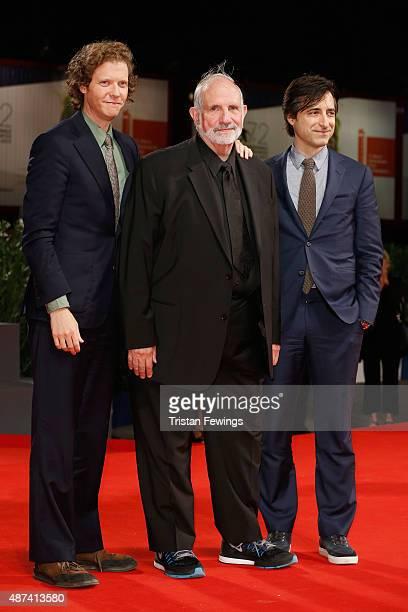 Directors Jake Paltrow Brian De Palma and Noah Baumbach attend a premiere for 'De Palma' And 'JaegerLeCoultre Glory to the Filmmaker 2015 Award'...