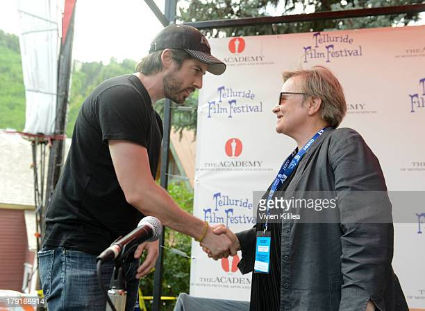 Directors Jason Reitman and Agnieszka Holland attend the 2013 Telluride Film Festival Day 3 on August 31 2013 in Telluride Colorado