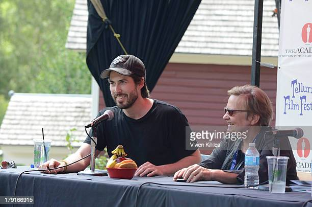 Directors Jason Reitman and Agnieszka Holland speak on a panel at Elks Park at the 2013 Telluride Film Festival Day 3 on August 31 2013 in Telluride...