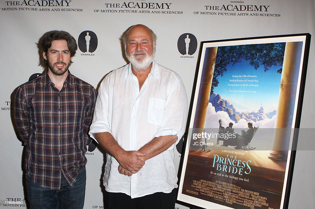 Directors Jason Reitman and Rob Reiner attend 'The Princess Bride' Live Commentary hosted by Jason Reitman at The Academy at AMPAS Samuel Goldwyn...