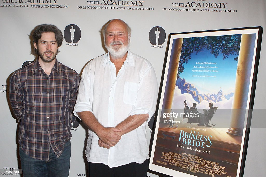 Directors <a gi-track='captionPersonalityLinkClicked' href=/galleries/search?phrase=Jason+Reitman&family=editorial&specificpeople=627880 ng-click='$event.stopPropagation()'>Jason Reitman</a> (L) and <a gi-track='captionPersonalityLinkClicked' href=/galleries/search?phrase=Rob+Reiner&family=editorial&specificpeople=208749 ng-click='$event.stopPropagation()'>Rob Reiner</a> attend 'The Princess Bride' Live Commentary hosted by <a gi-track='captionPersonalityLinkClicked' href=/galleries/search?phrase=Jason+Reitman&family=editorial&specificpeople=627880 ng-click='$event.stopPropagation()'>Jason Reitman</a> at The Academy at AMPAS Samuel Goldwyn Theater on August 15, 2013 in Beverly Hills, California.