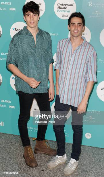 Directors Javier Calvo and Javier Ambrossi attend James Rhodes concert at the Royal Theatre on July 27 2017 in Madrid Spain