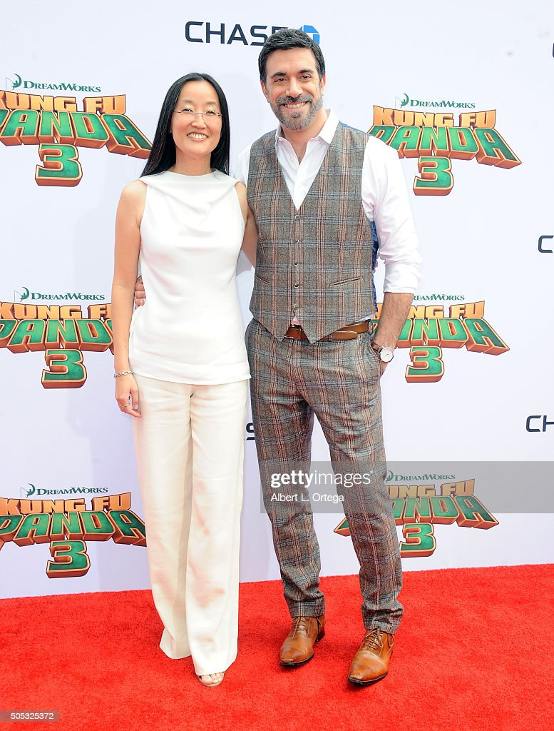 Directors Jennifer Yuh Nelson and Alessandro Carloni arrive for the premiere of DreamWorks Animation and Twentieth Century Fox's 'Kung Fu Panda 3' held at TCL Chinese Theatre on January 16, 2016 in Hollywood, California.