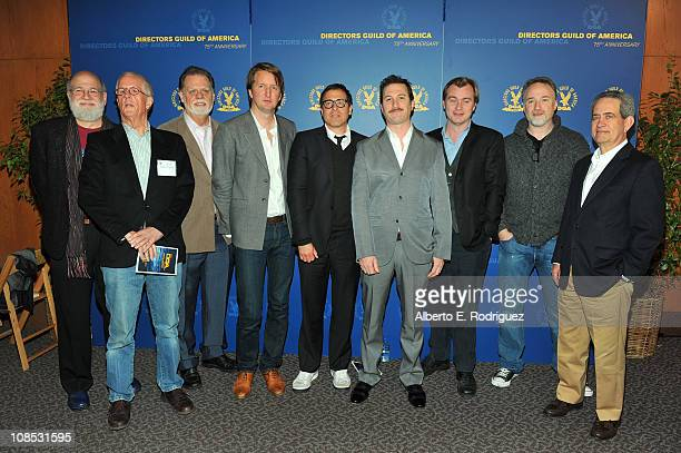 Directors Jeremy Kagan Michael Apted DGA Presifent Taylor Hackford Tom Hooper David O Russell Darren Aronofsky Christopher Nolan David Fincher and...