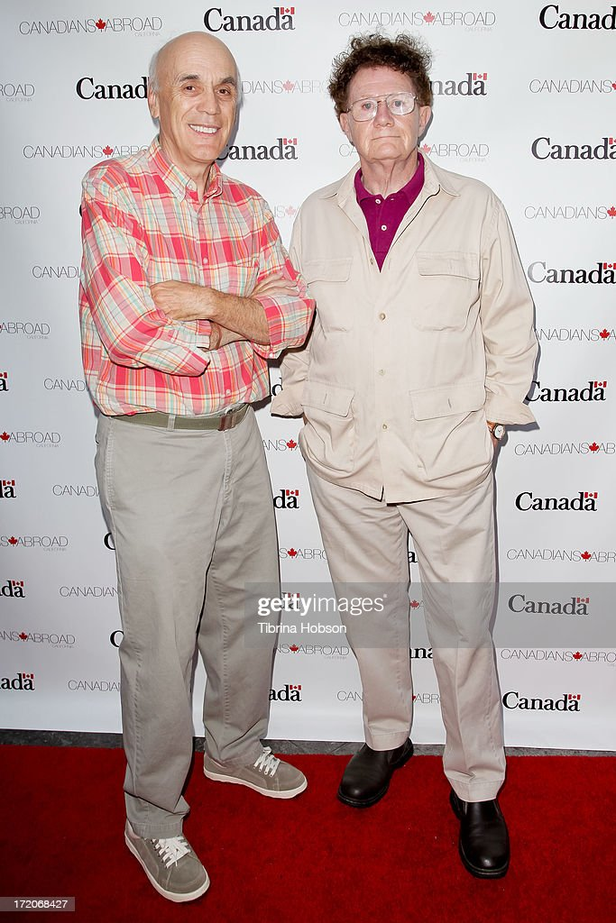 Directors Jim Makichuk and Paul Lynch attend the 2013 Canada Day in LA party at Wokano restaurant on June 30, 2013 in Santa Monica, California.