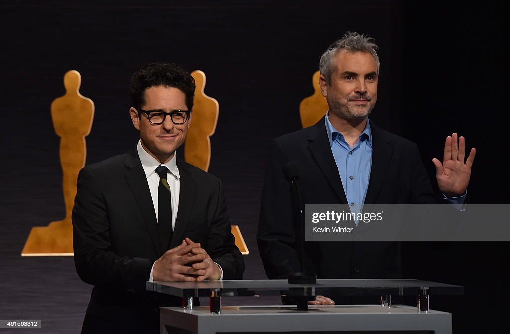 Directors JJ Abrams and Alfonso Cuaron announce the nominees during the 87th Academy Awards Nominations Announcement at the AMPAS Samuel Goldwyn...