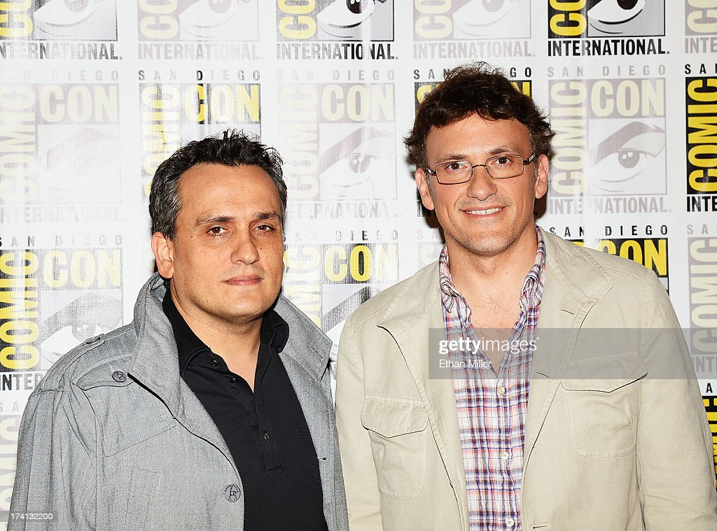 Directors <a gi-track='captionPersonalityLinkClicked' href=/galleries/search?phrase=Joe+Russo+-+Director&family=editorial&specificpeople=14327733 ng-click='$event.stopPropagation()'>Joe Russo</a> (L) and <a gi-track='captionPersonalityLinkClicked' href=/galleries/search?phrase=Anthony+Russo+-+Film+Director&family=editorial&specificpeople=4700486 ng-click='$event.stopPropagation()'>Anthony Russo</a> attend Marvel's 'Captain America: The Winter Soldier' during Comic-Con International 2013 at the Hilton San Diego Bayfront Hotel on July 20, 2013 in San Diego, California.