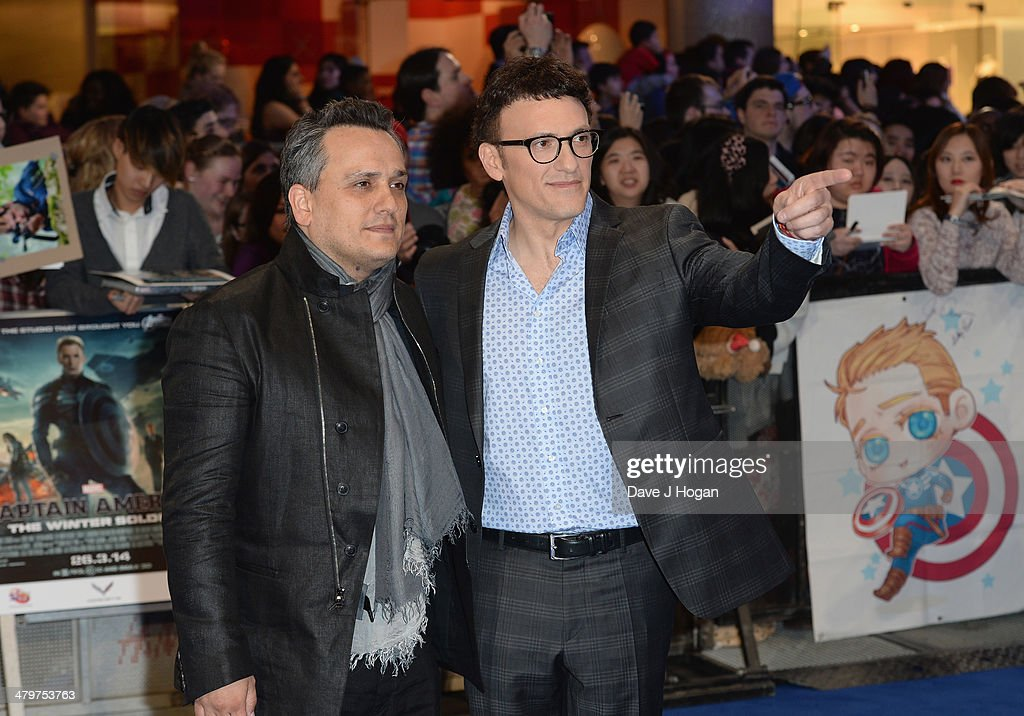 Directors Joe Russo and Anthony Russo attend the 'Captain America: The Winter Soldier' UK film premiere at Westfield on March 20, 2014 in London, England.