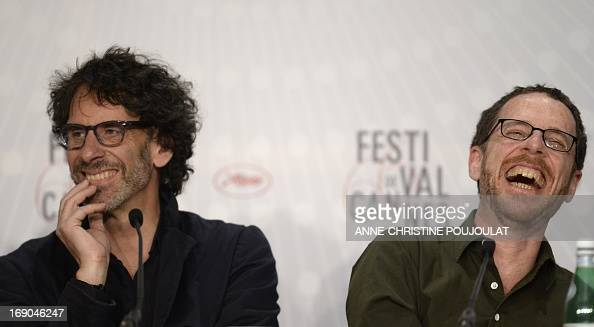 US directors Joel and Ethan Coen hold on May 19 2013 a press conference for their film 'Inside Llewyn Davis' presented in Competition at the 66th...