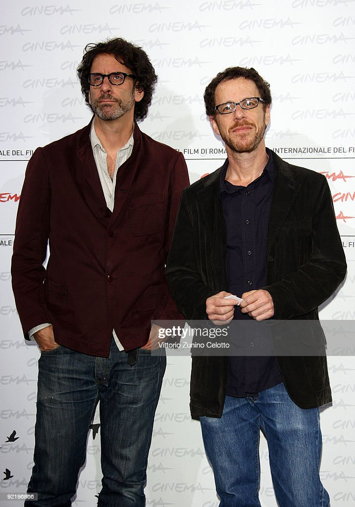 Directors <a gi-track='captionPersonalityLinkClicked' href=/galleries/search?phrase=Joel+Coen&family=editorial&specificpeople=4292064 ng-click='$event.stopPropagation()'>Joel Coen</a> and director <a gi-track='captionPersonalityLinkClicked' href=/galleries/search?phrase=Ethan+Coen&family=editorial&specificpeople=1130888 ng-click='$event.stopPropagation()'>Ethan Coen</a> attend the 'A Serious Man' Photocall during Day 8 of the 4th International Rome Film Festival held at the Auditorium Parco della Musica on October 22, 2009 in Rome, Italy.