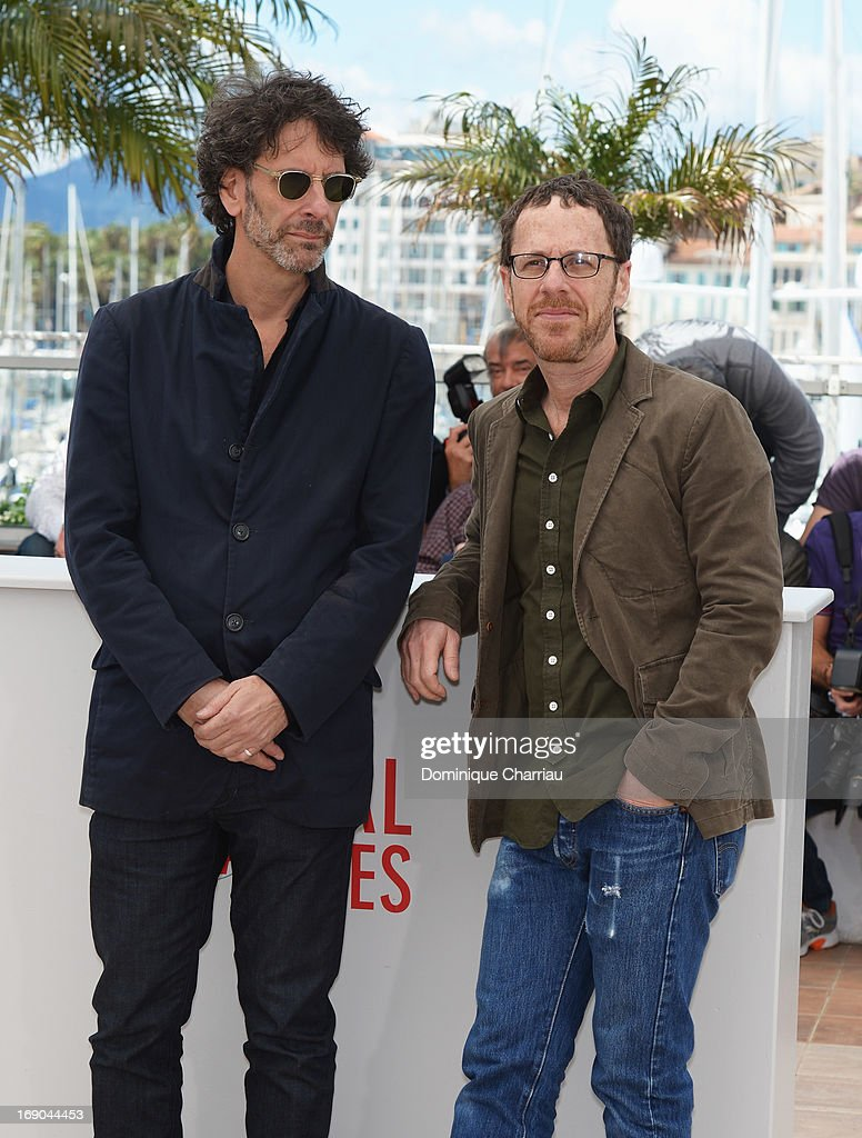 Directors <a gi-track='captionPersonalityLinkClicked' href=/galleries/search?phrase=Joel+Coen&family=editorial&specificpeople=4292064 ng-click='$event.stopPropagation()'>Joel Coen</a> and <a gi-track='captionPersonalityLinkClicked' href=/galleries/search?phrase=Ethan+Coen&family=editorial&specificpeople=1130888 ng-click='$event.stopPropagation()'>Ethan Coen</a> attend the photocall for 'Inside Llewyn Davis' during the 66th Annual Cannes Film Festival at Palais des Festivals on May 19, 2013 in Cannes, France.