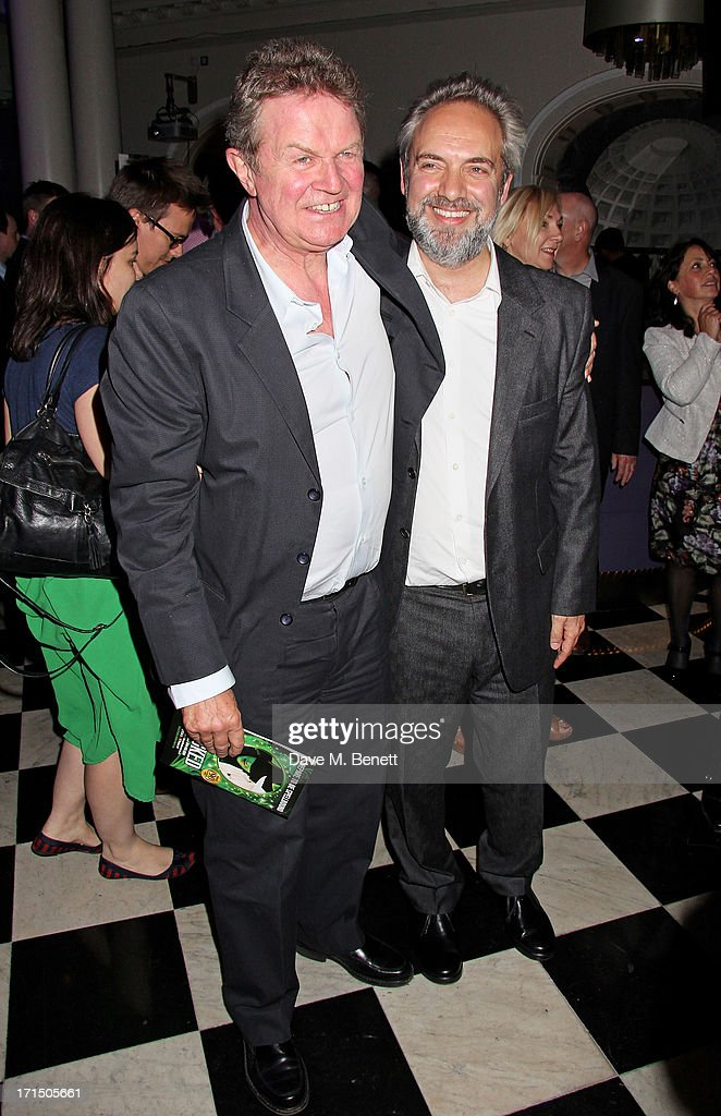 Directors <a gi-track='captionPersonalityLinkClicked' href=/galleries/search?phrase=John+Madden+-+Director&family=editorial&specificpeople=14046223 ng-click='$event.stopPropagation()'>John Madden</a> (L) and <a gi-track='captionPersonalityLinkClicked' href=/galleries/search?phrase=Sam+Mendes&family=editorial&specificpeople=211300 ng-click='$event.stopPropagation()'>Sam Mendes</a> attend an after party celebrating the press night performance of 'Charlie And The Chocolate Factory' at The Grand Connaught Rooms on June 25, 2013 in London, England.