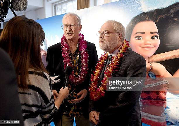 Directors John Musker and Ron Clements attend the UK Gala screening of Disney's 'MOANA' at BAFTA on November 20 2016 in London England