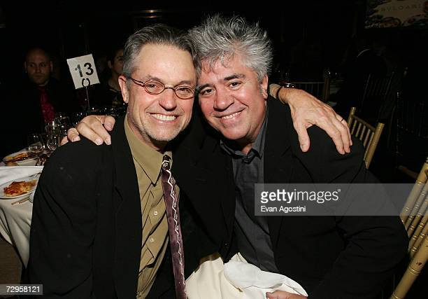 Directors Jonathan Demme and Pedro Almodovar attend the 2006 National Board Of Review Awards Presented by BVLGARI at Cipriani 42nd Street January 9...