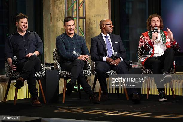 Directors Josh Gordon and Will Speck and actors Courtney B Vance and T J Miller speak at Build Presents TJ Miller Courtney B Vance and Directors Will...