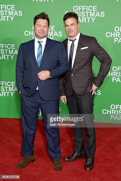 Directors Josh Gordon and Will Speck attend the premiere of Paramount Pictures' 'Office Christmas Party' at Regency Village Theatre on December 7...