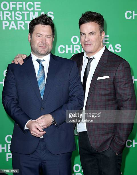 Directors Josh Gordon and Will Speck attend the LA Premiere of Paramount Pictures 'Office Christmas Party' at Regency Village Theatre on December 7...