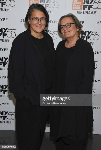 Directors Kasia Adamik and Agnieszka Holland attend The 55th New York Film Festival 'Spoor' at Alice Tully Hall on September 30 2017 in New York City