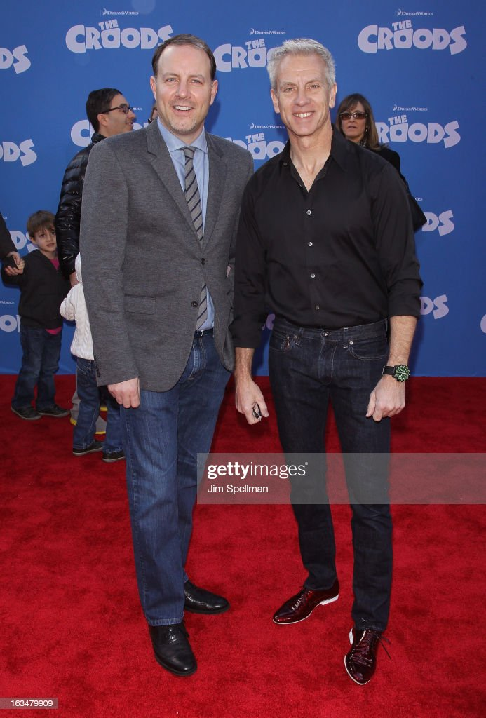 Directors Kirk DeMicco and Chris Sanders attend 'The Croods' premiere at AMC Loews Lincoln Square 13 theater on March 10, 2013 in New York City.