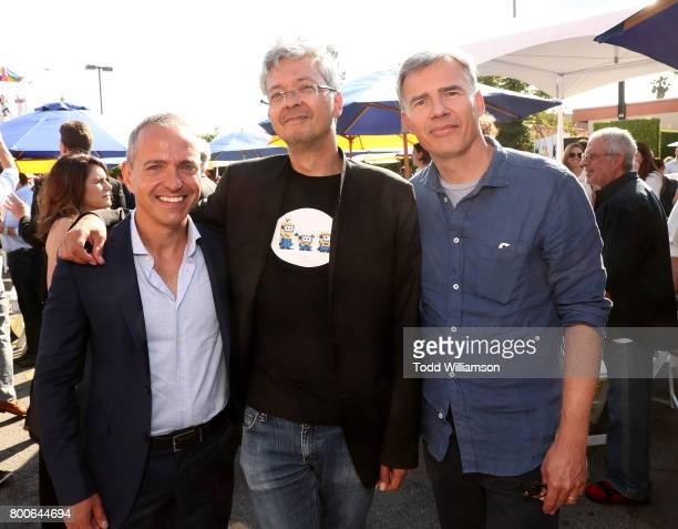Directors Kyle Balda Pierre Coffin and Eric Guillon attend the Premiere Of Universal Pictures And Illumination Entertainment's 'Despicable Me 3' at...