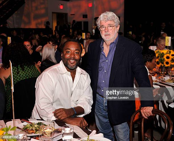 Directors Lee Daniels and George Lucas attend the Sundance Institute New York Benefit 2014 at Stage 37 on June 4 2014 in New York City