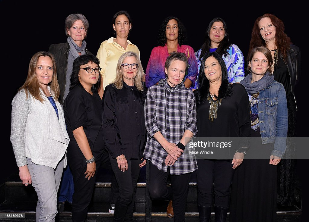 Directors Louise Osmond, Danae Elon, Geeta Gandbhir, <a gi-track='captionPersonalityLinkClicked' href=/galleries/search?phrase=Sharmeen+Obaid-Chinoy&family=editorial&specificpeople=5581145 ng-click='$event.stopPropagation()'>Sharmeen Obaid-Chinoy</a>, Pietra Brettkelly (Below L - R) Jennifer Peedom, Mina Shum, <a gi-track='captionPersonalityLinkClicked' href=/galleries/search?phrase=Gillian+Armstrong&family=editorial&specificpeople=228468 ng-click='$event.stopPropagation()'>Gillian Armstrong</a>, <a gi-track='captionPersonalityLinkClicked' href=/galleries/search?phrase=Laurie+Anderson&family=editorial&specificpeople=664036 ng-click='$event.stopPropagation()'>Laurie Anderson</a> and <a gi-track='captionPersonalityLinkClicked' href=/galleries/search?phrase=Barbara+Kopple&family=editorial&specificpeople=228758 ng-click='$event.stopPropagation()'>Barbara Kopple</a>, Genevieve Dulude-De Celles attend Female Doc Filmmakers at TIFF during the 2015 Toronto International Film Festival at Maison Mercer on September 13, 2015 in Toronto, Canada.