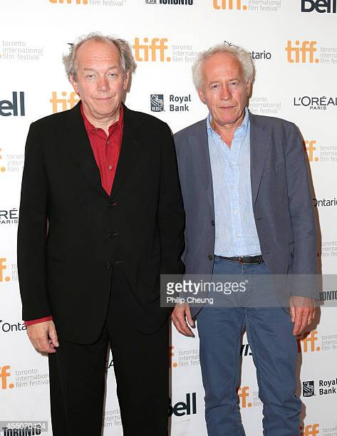 Directors Luc Dardenne and Jean Pierre Dardenne attend the 'Two Days One Night' premiere during the 2014 Toronto International Film Festival at...
