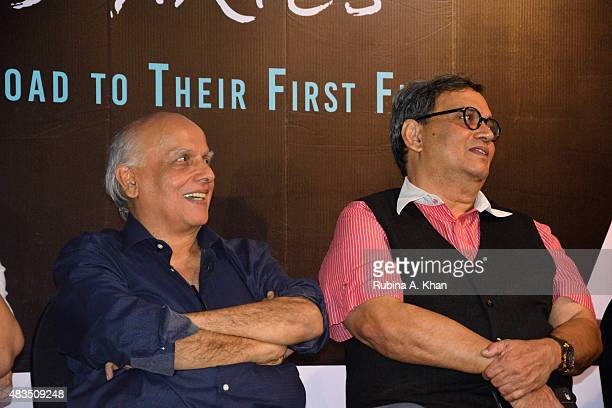 Directors Mahesh Bhatt and Subhash Ghai attend the book release of Rakesh Anand Bakshi's 'Directors' Diaries The Road To Their First Film' published...