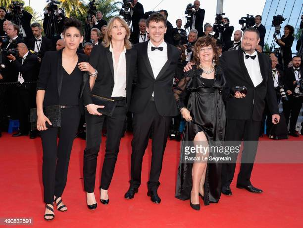 Directors Marie AmachoukeliBarsacq Claire Burger Samuel Theis actress Sonia TheisLitzemburger and guest attend the 'Party Girl' premiere during the...