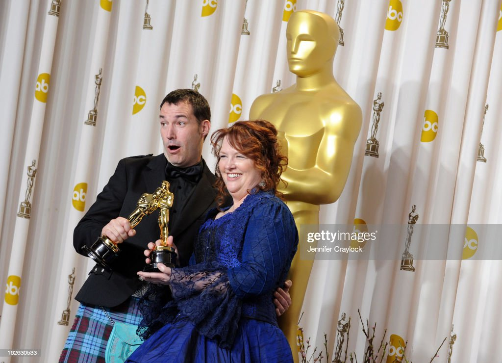 Directors Mark Andrews and Brenda Chapman, winners of the Best Animated Feature award for 'Brave' in the press room during the 85th Annual Academy Awards at Loews Hollywood Hotel on February 24, 2013 in Hollywood, California.