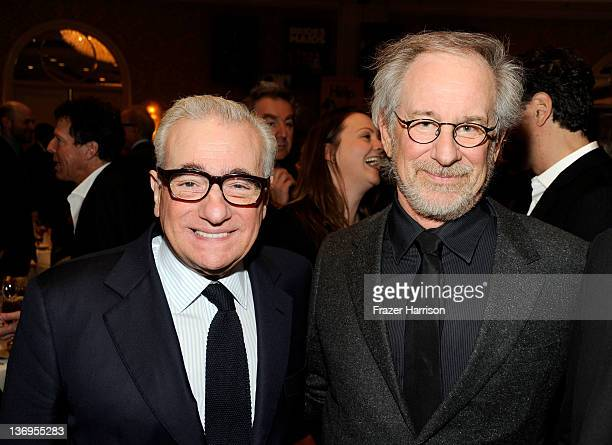 Directors Martin Scorsese and Steven Spielberg attend the 12th Annual AFI Awards held at the Four Seasons Hotel Los Angeles at Beverly Hills on...