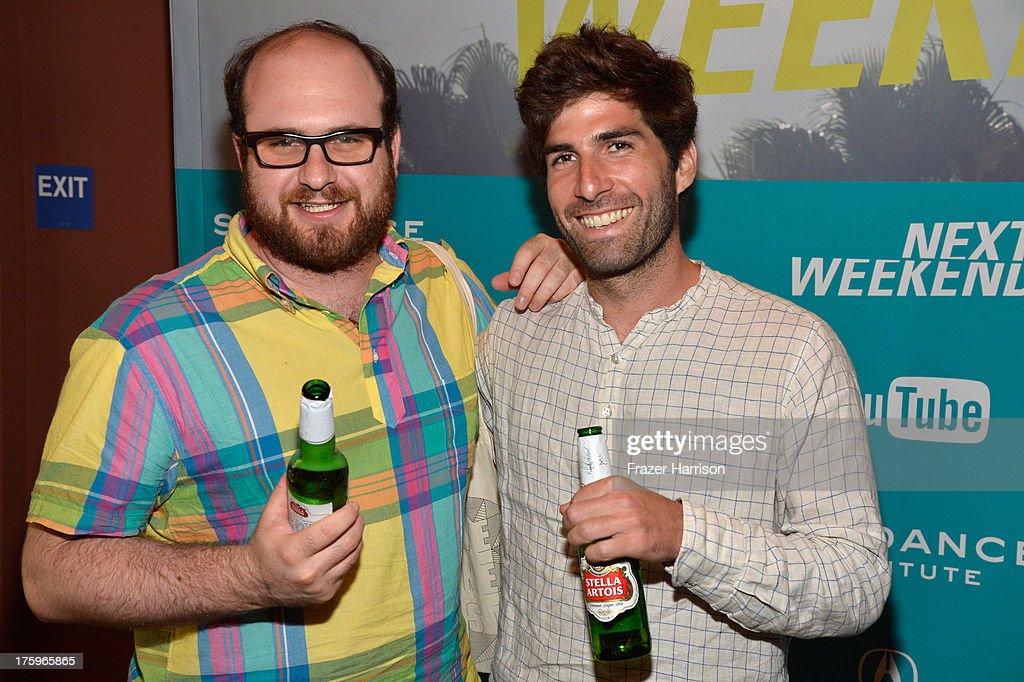 Directors Max Goldblatt and Sam Fleischner during NEXT WEEKEND, presented by Sundance Institute at Sundance Sunset Cinema on August 10, 2013 in Los Angeles, California.
