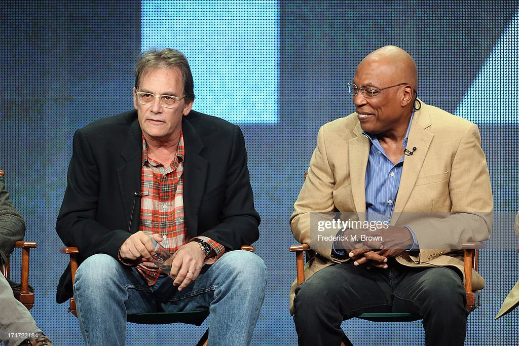 Directors Michael Dinner and Director and President of the Directors Guild of America Paris Barclay speak onstage during 'FX Directors' panel as part of the 2013 Summer Television Critics Association tour at the Beverly Hilton Hotel on July 28, 2013 in Beverly Hills, California.