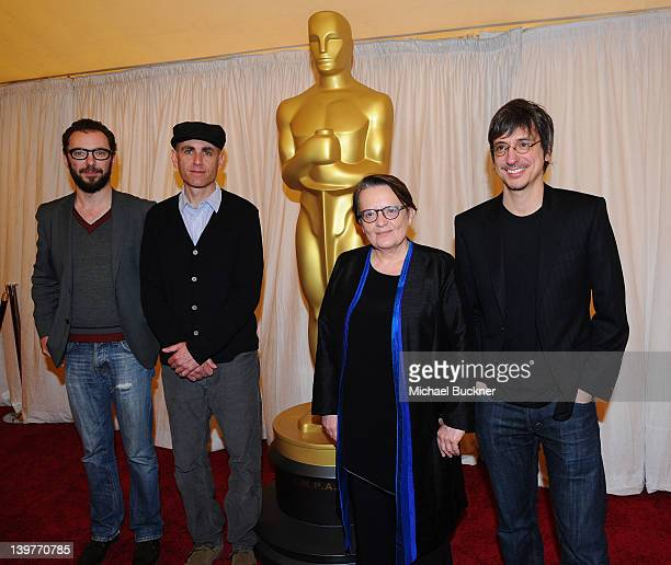 Directors Michael Roskam Joseph Cedar Agnieszka Holland and Philippe Falardeau attend the Foreign Language Film Award Nominee Press Conference for...