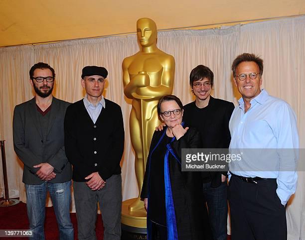 Directors Michael Roskam Joseph Cedar Agnieszka Holland and Philippe Falardeau and AMPAS Governor Mark Johnson attend the Foreign Language Film Award...