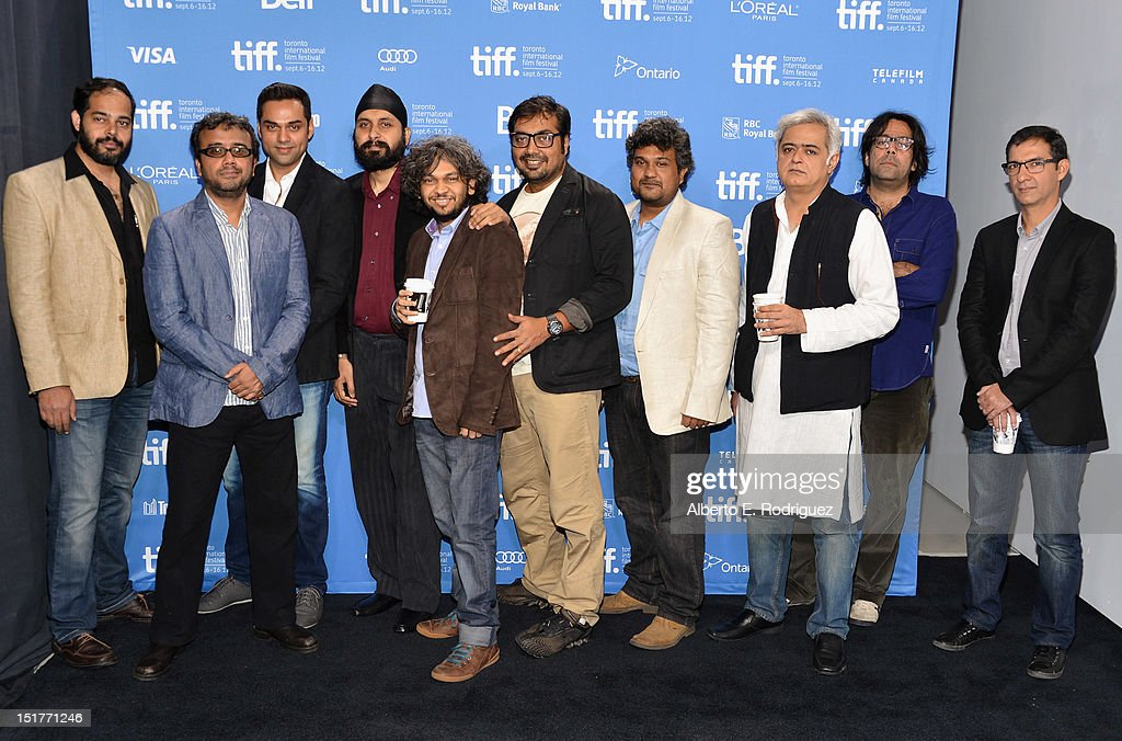 Directors Mohit Takalkar, Dibakar Banerjee, actor <a gi-track='captionPersonalityLinkClicked' href=/galleries/search?phrase=Abhay+Deol&family=editorial&specificpeople=5377911 ng-click='$event.stopPropagation()'>Abhay Deol</a>, directors Manjeet Singh, Anand Gandhi, Anurag Kashyap, Vasan Bala, Hansal Mehta, Ashim Ahluwalia and Habib Faisal attend the 'City To City' Photo Call during the 2012 Toronto International Film Festival at TIFF Bell Lightbox on September 11, 2012 in Toronto, Canada.