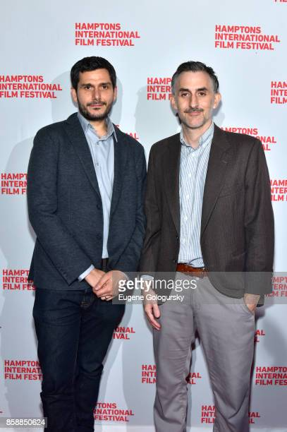Directors Myles Kane and Josh Koury attend the photo call for 'Voyeur' during Hamptons International Film Festival 2017 Day Three on October 7 2017...