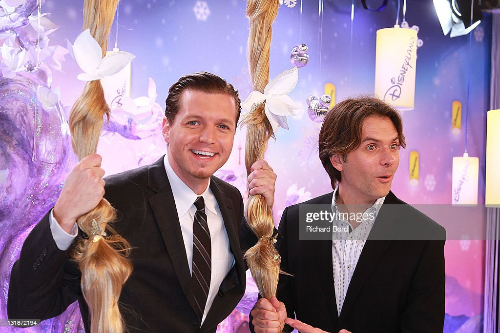 Directors Nathan Greno and Byron Howard attend the Raiponce Premiere during the Christmas Season Launch at Disneyland Paris on November 6 2010 in...