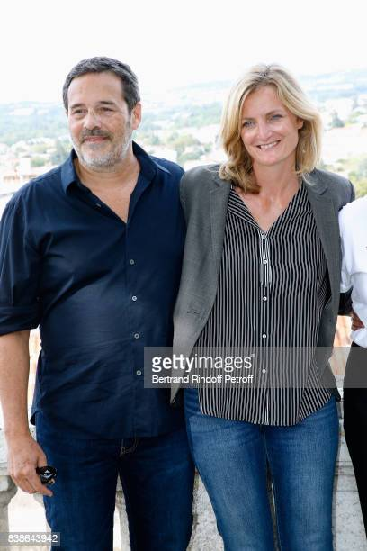 Directors of the movie 'Le rire de ma mere' Pascal Ralite and Colombe Savigna attend the 10th Angouleme FrenchSpeaking Film Festival Day Three on...