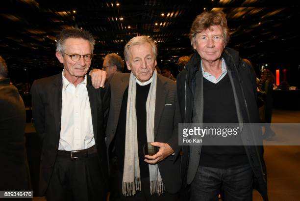 Directors Patrice Leconte Constantin CostaGavras and Etienne Chatilliez attend Celebration Of Gabriel Yared's Film Music At The Philharmonie De Paris...