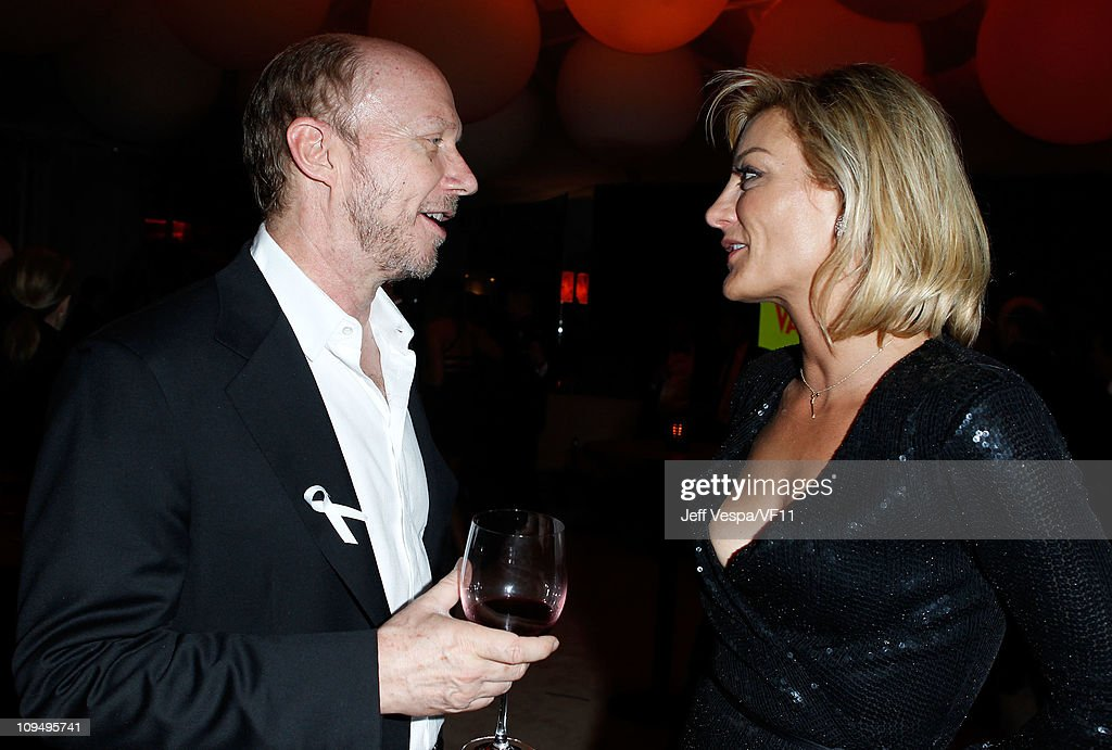 Directors <a gi-track='captionPersonalityLinkClicked' href=/galleries/search?phrase=Paul+Haggis&family=editorial&specificpeople=213967 ng-click='$event.stopPropagation()'>Paul Haggis</a> and <a gi-track='captionPersonalityLinkClicked' href=/galleries/search?phrase=Lucy+Walker&family=editorial&specificpeople=3079373 ng-click='$event.stopPropagation()'>Lucy Walker</a> attend the 2011 Vanity Fair Oscar Party Hosted by Graydon Carter at the Sunset Tower Hotel on February 27, 2011 in West Hollywood, California.