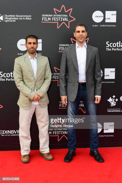 Directors Paul Shammasian and Ludwig Shammasian attend a photocall for the projection of 'Romans' during the 71st Edinburgh International Film...