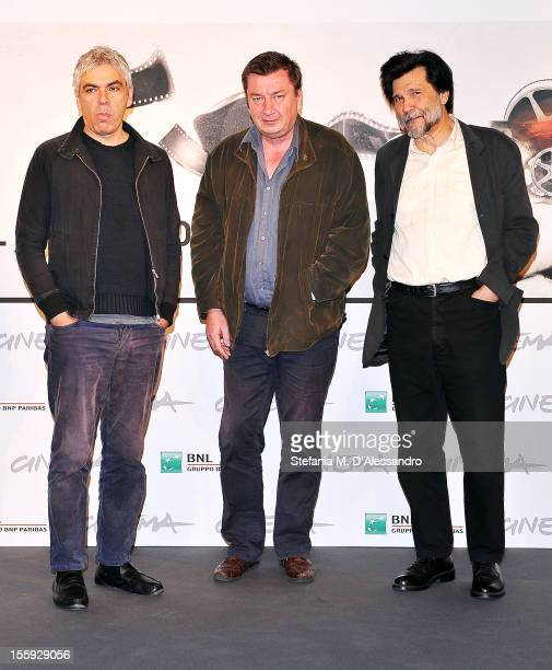 Directors Pedro Costa Aki Kaurismaki and Victor Erice attend the 'Centro Historico' Photocall during The 7th Rome Film Festival on November 9 2012 in...
