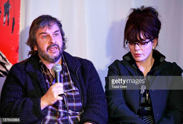Directors Peter Jackson and Fran Walsh attend the 'West Of Memphis' Press Conference at Blue Iguana on January 21 2012 in Park City Utah