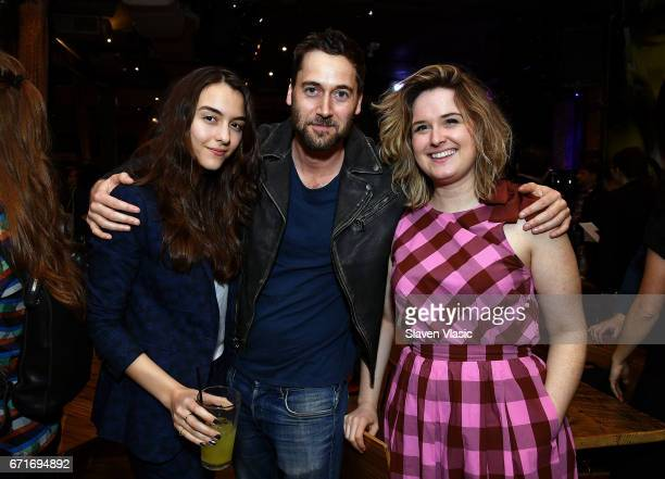 Directors Quinn Shephard Ryann Eggold and Director of Programming Tribeca Film Festival Cara Cusumano attend Director's Brunch at 2017 Tribeca Film...