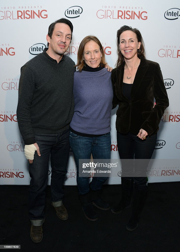 Directors Richard E. Robbins and Holly Gordon and producer Martha Adams attend the Intel Event at The Shop during the 2013 Sundance Film Festival on January 21, 2013 in Park City, Utah.