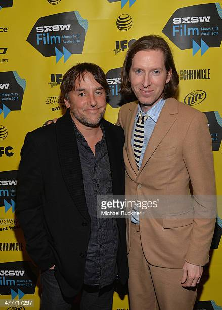 Directors Richard Linklater and Wes Anderson attend the screening of 'Grand Budapest Hotel' during the 2014 SXSW Music Film Interactive Festival at...