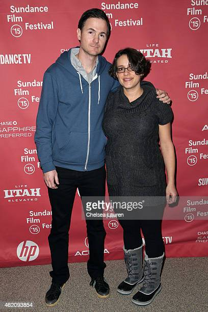 Directors Ryan Fleck and Anna Boden attend the 'Mississippi Grind' premiere during the 2015 Sundance Film Festival on January 24 2015 in Park City...